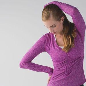 lululemon | interval long sleeve heathered violet